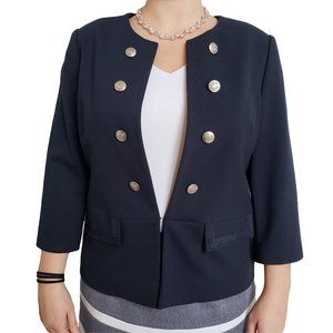 CLEO Navy Blue Military Style Career Wear Blazer L